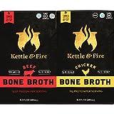 Wasserkocher & Fire Chicken & Beef Bone Broths- 16.2oz 2 (1 each of Chicken & Beef) Pack of Collagen & Gelatin Rich Bonebroth. Paleo/Keto/Gluten Free/Whole 30 Gut Friendly Nutrition from Ancient Source.