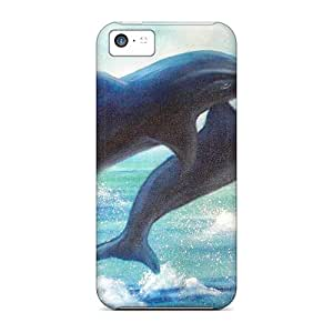 Durable Cases For The Iphone 5c- Eco-friendly Retail Packaging(miami Dolphins)