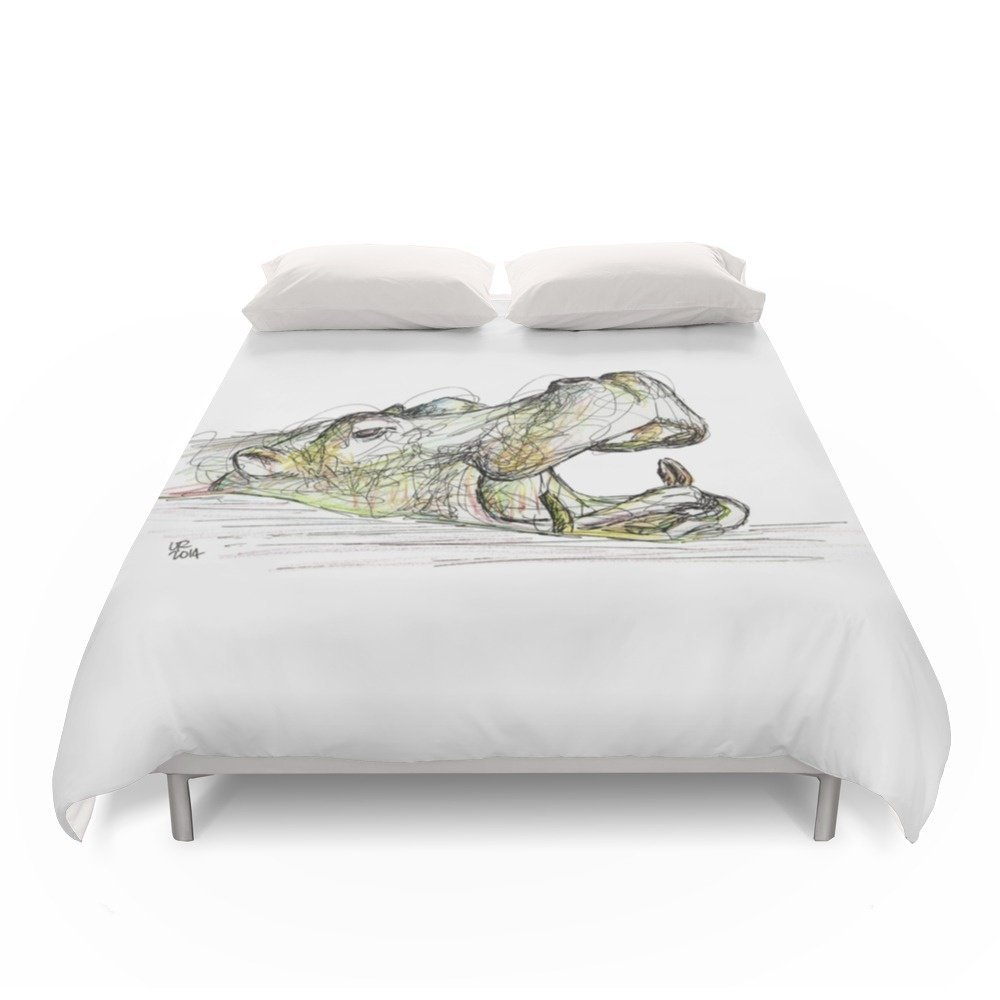 Society6 Hippo Duvet Covers Full: 79'' x 79''