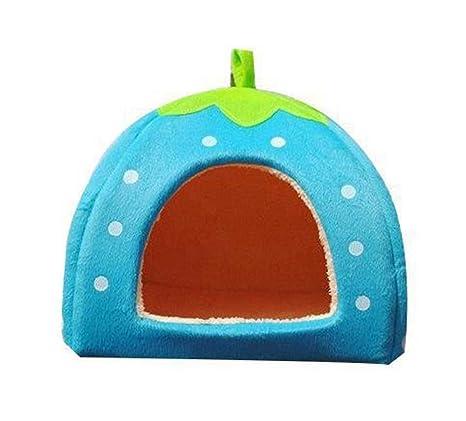 Wa Hojas Verde Esponja Diseño de fresas de vástago mano mascotas Casa Perrito cama