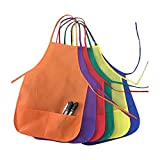 Children's Apron Painting Aprons with Pockets for Kids Painting Pottery and Baking Tool Apron Best for Kitchen Art Classroom Community DIY Event HSW-074-US 12 Pieces Assorted Color