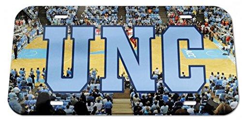 NCAA North Carolina Tar Heels Basketball Court Crystal Mirror License Plate, 6 x - Ncaa Crystal Basketball