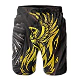 POUYNY Vintage Mythical Bird Pride Men's Elastic Waist Quick-drying Swim Trunks Home Board Shorts Boardshorts XXL