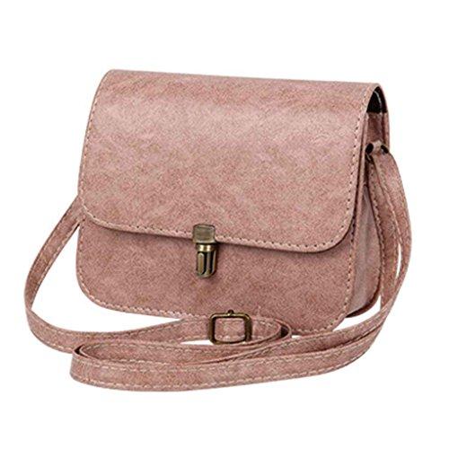Rose femelle bandoulière Mengonee paquets sacs femmes petits Lady carrés à décoratifs PU femmes sacs sacs qA6ZPT