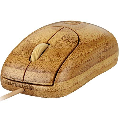 Tbridge Wired Full Bamboo Handmade Computer Mouse, Comfortable With Ergonomic, Fashion Personality, Environmental Protection, Health, Anti Sweat, Antibacterial, Anti Radiation by Tbridge