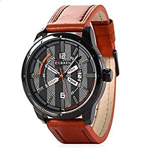 Curren Men's Analog Leather Watch 8211