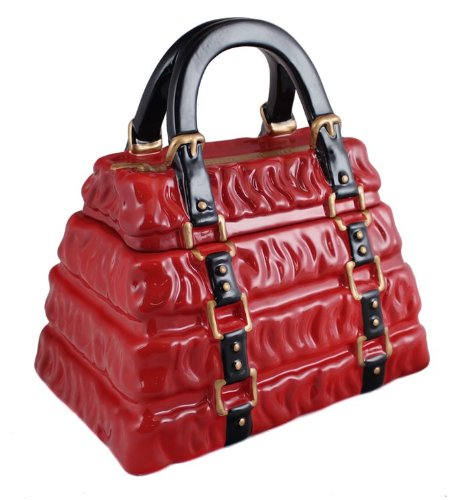 neiman-marcus-red-pleated-handbag-cookie-jar
