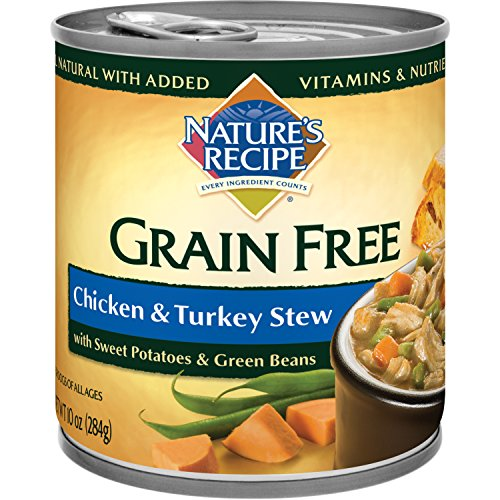 Nature'S Recipe Grain Free Wet Dog Food, Chicken & Turkey Stew, 10-Ounce Cans (Pack Of 24)