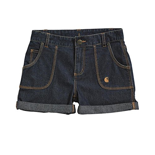 Carhartt Kid's CH9243 Washed Denim Short - Girls - 6X Child - Denim ()