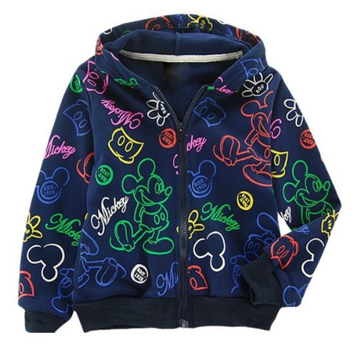 China SOPO Mickey Cartoon Coat Boys Kid Hoodie Winter Jac...