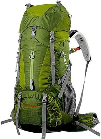 BAJIMI アウトドアハイキングキャンプ旅行60 + 5Lプロフェッショナルリュック内部フレームバッグ/グリーンのための防水バックパック
