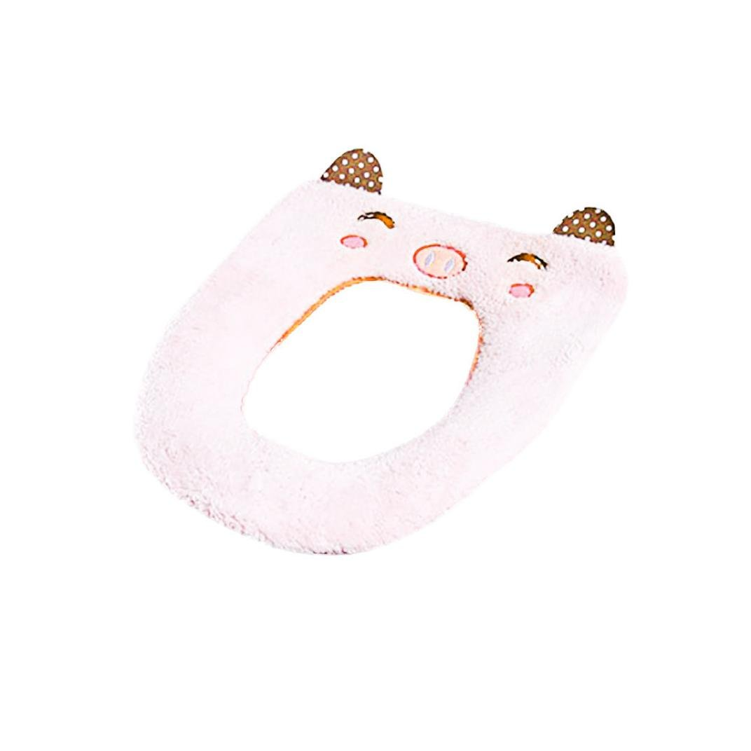 Kanzd Toilet Seat Cover Mat Warm Cartoon Animal Washable Bathroom Toilet Seat Covers Children