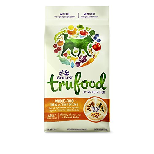 Wellness TruFood Baked Blends Natural Grain Free Dry Raw Dog Food, Chicken, Chicken Liver & Flaxseed, 18-Pound Bag