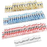 100pcs Solder Seal Wire Connectors, Solder Seal Heat Shrink Butt Connectors Terminals Electrical Waterproof Insulated Marine Boat Automotive Wiring Connectors Kits (35Red 30Blue 25White 10Yellow)