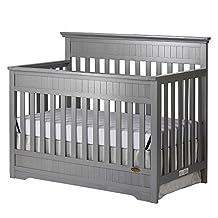 Dream On Me Chesapeake 5-In-1 Convertible Crib, Storm Grey