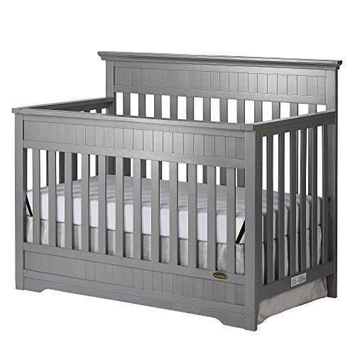 Dream On Me Chesapeake 5-In-1 Convertible Crib, Storm Grey - Bed Molding Wood