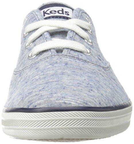 Keds Womens Champion Jersey Fashion Sneaker Blu / Multi