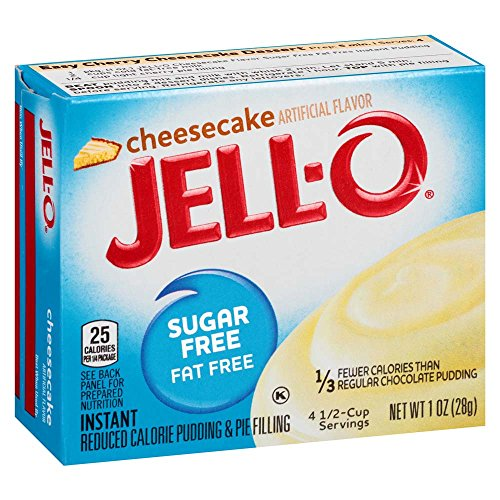 Fat Free Pudding (Jell-O Sugar-Free Cheesecake Instant Pudding Mix 1 Ounce Box (Pack of 6))