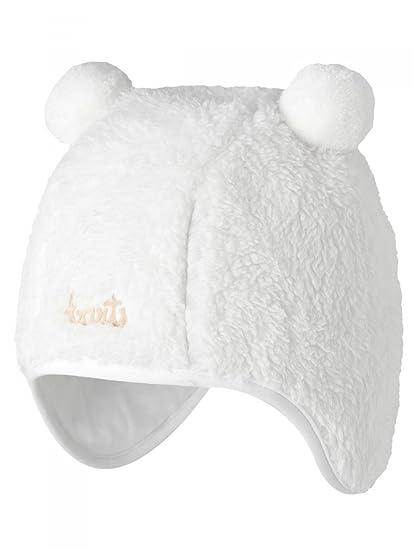 Barts-Bonnet Blanc Naissance en Fourrure Polaire bébé Fille du 3 au 12 Mois   Amazon.fr  Vêtements et accessoires b2ee588e0b2