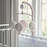 Carousel Designs Light Pink Linen Mobile