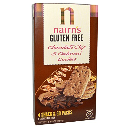 Nairn's Inc, Gluten Free, Chocolate Chip & Oatmeal Cookies, 5.64 oz - 2pcs