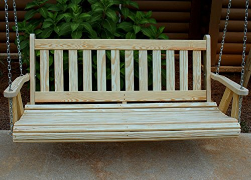 Cheap MISSION Amish Heavy Duty 800 Lb 5ft. Porch Swing- Made in USA