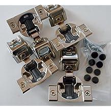 "Combo: 4 Pcs, Blum 39C358B.20 - COMPACT BLUMOTION, 1-1/4"" overlay, Press-in Hinge"