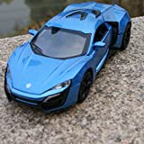 chuck e cheese hot wheels - Lykan Hypersport Sound & Light Model Cars 1:32 Alloy Diecast Blue Toys Gifts New , jetta toy car , vw jetta toy car
