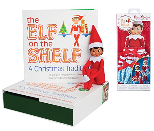 The Elf on the Shelf: A Christmas Tradition Brown Eyed Elf Girl and Claus