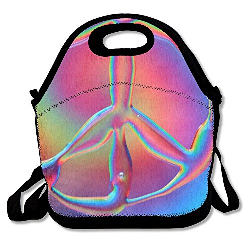 Titan's Mother Portable Lunchbox Handbag With Shoulder Strap Tie Dye Peace Sign Packet Suitable For (Peace Quilt)