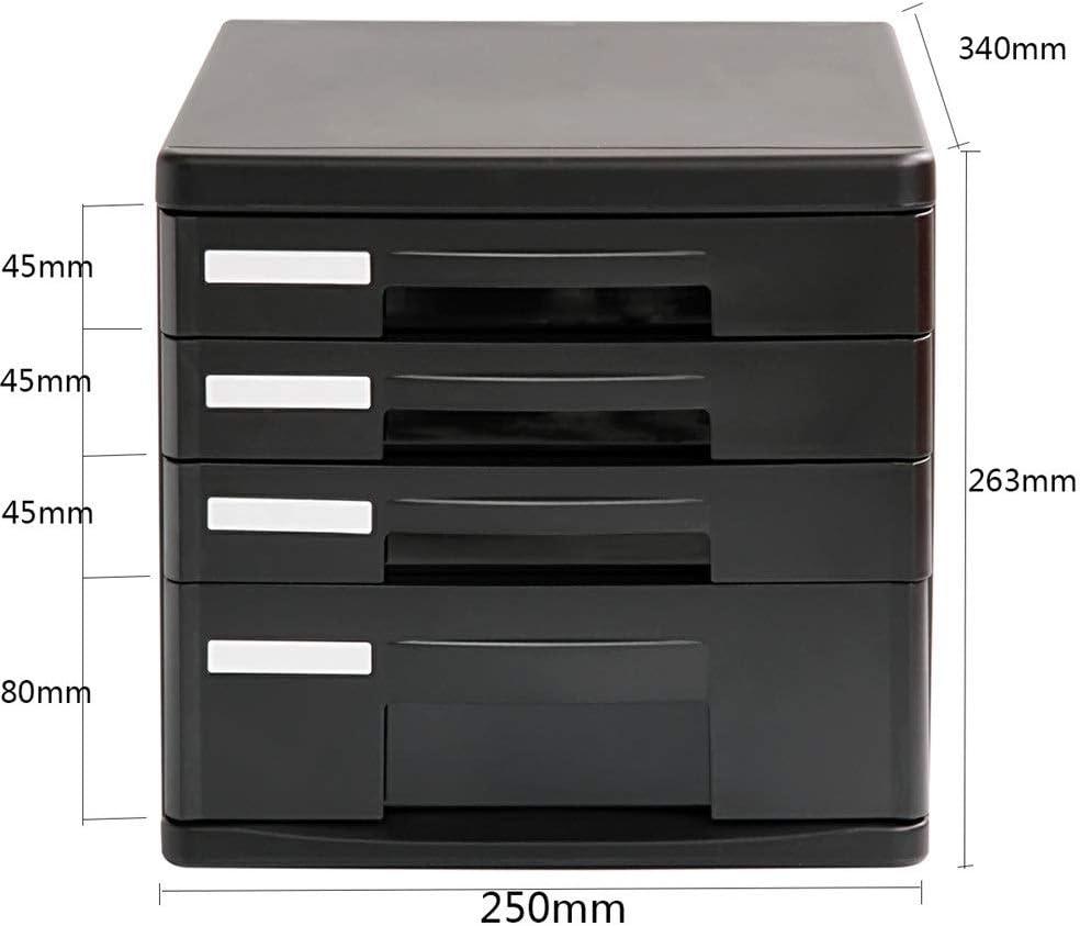 Color : Black, Size : 26.3x25x34cm Desktop Cabinet Drawer Drawer Cabinet Desk Organizer Filing /& Organizing Tools Documents Supplies Craft Paper Home Office Desktop File Storage Box File Cabinets