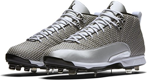 Nike JORDAN XII RETRO METAL mens baseball-shoes 854567-100_16 - WHITE/BLACK-METALLIC - Jordan Baseball