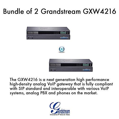 Grandstream GXW4216 16 Ports FXS Analog PBX VoIP Gateway, Bundle of (Fxs Analog Voip Gateway)