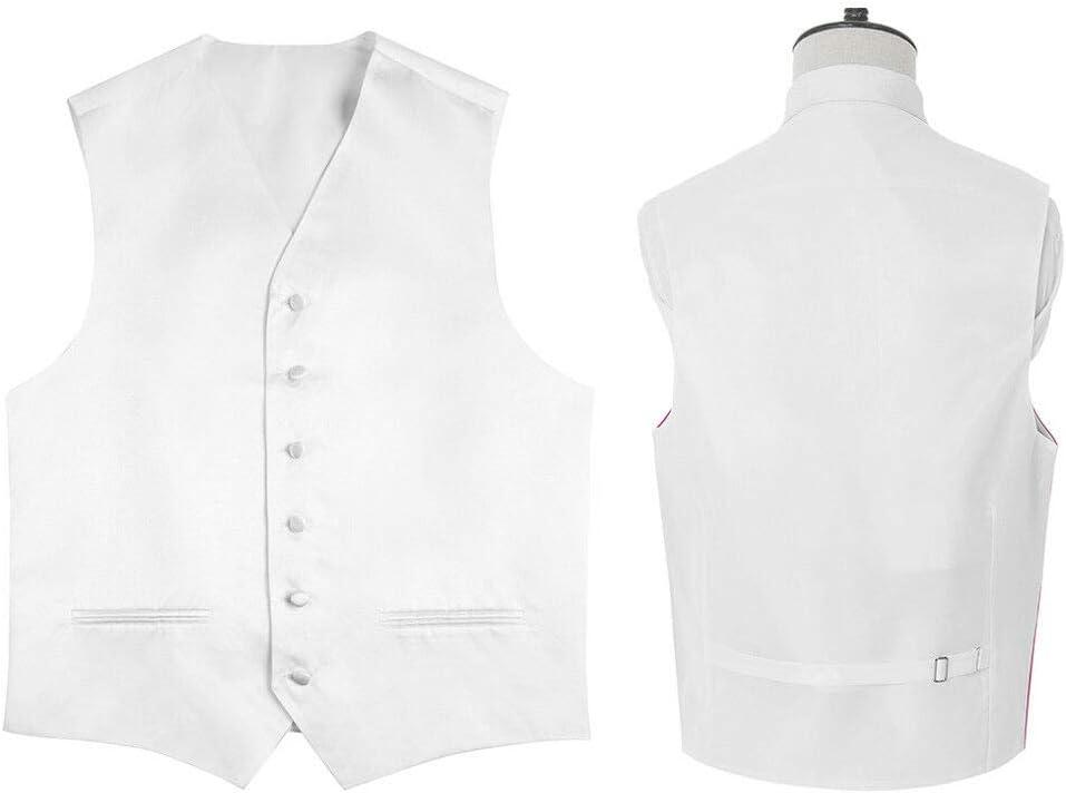 Amazing Tour Mens Boy/'Waistcoat Wedding Suit Chest Premium Satin Solid Plain Vest purple 2XL-44