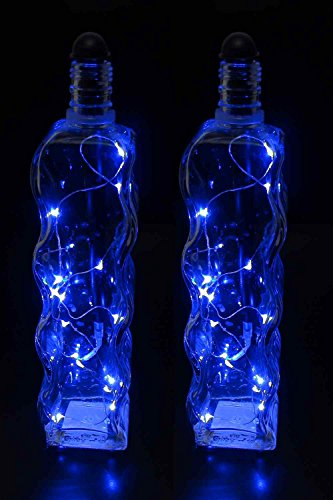 Light My Bottle String LED Lighting Accessory Stick, Blue (2 pack)- Transform Ordinary Empty Bottles into Beautiful works of Art- Fits Bottles Taller than 9 inches