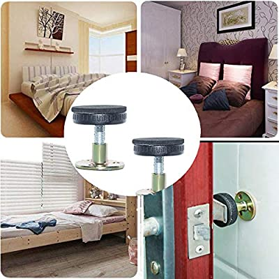 Bedside Headboards Prevent loosening Anti-Shake Fixer,Bedside collision prevention shockproof Tool,for Beds Cabinets Sofas,Allow Your Bed to Be Stationary 2pack,47-64mm Bed Frame Anti-Shake Tool