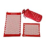 Spoonk Organic Hemp Combo - Acupressure Massage Mat + Travel Size Mat and Pillow with ECO foam - Made in USA