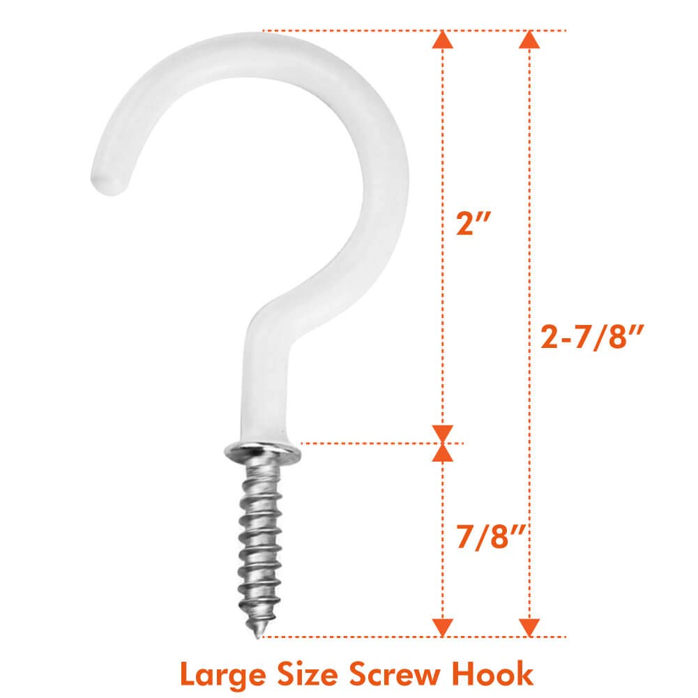Screw in Mug Hooks with 20 Pcs Plastic Drywall Anchors for Plant Hangers and Cups Paxcoo Ceiling Hooks 25Pcs Cup Screw Hook Holders for Hanging