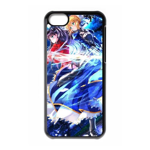 Fate Stay Night NR58RM7 coque iPhone Téléphone cellulaire 5c cas coque V7IC7H2OM