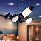Children's room chandeliers boy bedroom living room simple light eye protection cartoon led aircraft lighting fixtures
