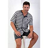 Massana - Mens Pyjama Sets Massana Short Sleeve Summer Open Front - ANTRACITA, M