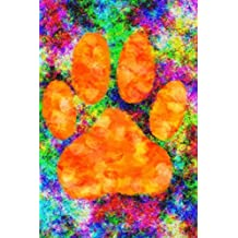 "Watercolor Dog Paw Print Notebook: 106 Page Ruled Paper Journal, 6"" x 9""(15.24 x 22.86 cm)"
