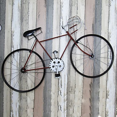 Wall Decor Metal Iron Modern Contemporary Bicycle Wall Hanging Wall Art 1 Pc