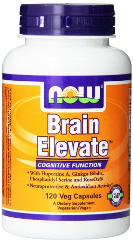 Now Foods Brain Elevate Formula Veg Capsules, 120 Count
