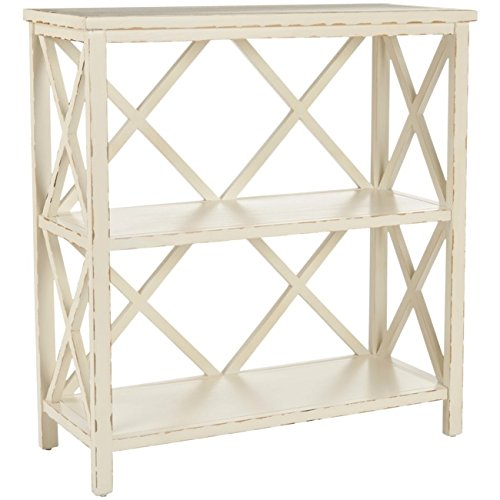Cream Antique Collection - Safavieh American Homes Collection Liam Vintage Cream Ivory 2-Tier Open Bookcase