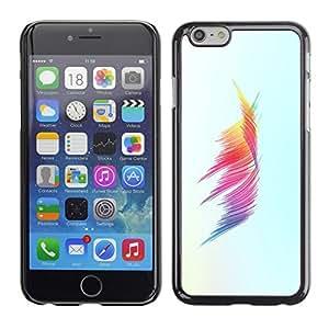 Cubierta de la caja de protección la piel dura para el Apple iPhone 6 (4.7) - colors minimalist brush stroke