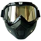 Cyclegear CG03 Motorcycle Goggles Ski Snowboard Mask Sports Glasses (Silver lens)
