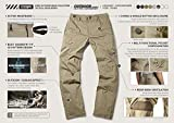 CQR Men's Hiking Pants, Water Repellent Outdoor