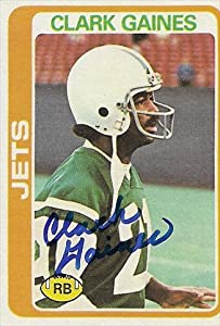 Autograph Warehouse 39506 Clark Gaines Autographed Football Card New York Jets 1978 Topps No. 81