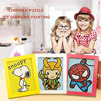 MYSNKU DIY Diamond Painting for Kids Full Drill Painting by Number Kits Arts Crafts Shimmer and Shine Sparkle Mosaics Sticker for Home Wall Decor Gifts for Christmas Birthday (Hulk): Toys & Games